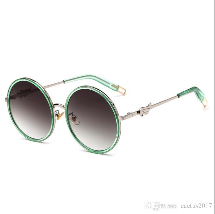 Lunettes de soleil / ladies / fashion / round / large frame / sunglasses / candy color / decoration / glasses , 1