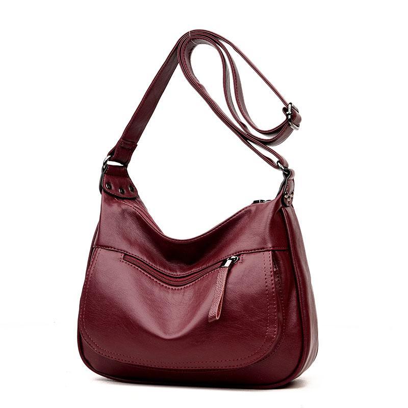 19a7a9baf915 Women Leather Handbags New Style Women Bag Sac A Main Femme Luxury Handbags  Bags Designer Small Handbag 2018 Sling Boho Bags Bags For Sale From  Gor2doe