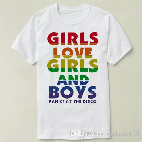 b0f5094945b Girls Love Girls And Boys Panic DIY Tee T Shirt Men Clothes Short Sleeve  Slim Fit T Shirt Men T Shirt Casual T Shirts Zl Discounted T Shirts Tee  Shirt Of ...