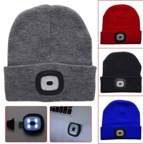 a91a1eb811 LED Light Hat Battery Type Winter Beanies Fishing Camping Cap Knitted Hat  Camping Outdoor Crochet Hat Party Favor CCA10320 Wedding Guest Favours  Wedding ...