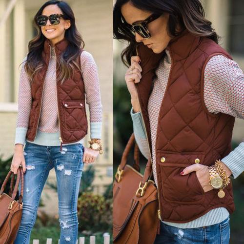 0a9d17a380d6a 2019 Winter Warm Womens Slim Cotton Jacket Sleeveless Coat Vest ...