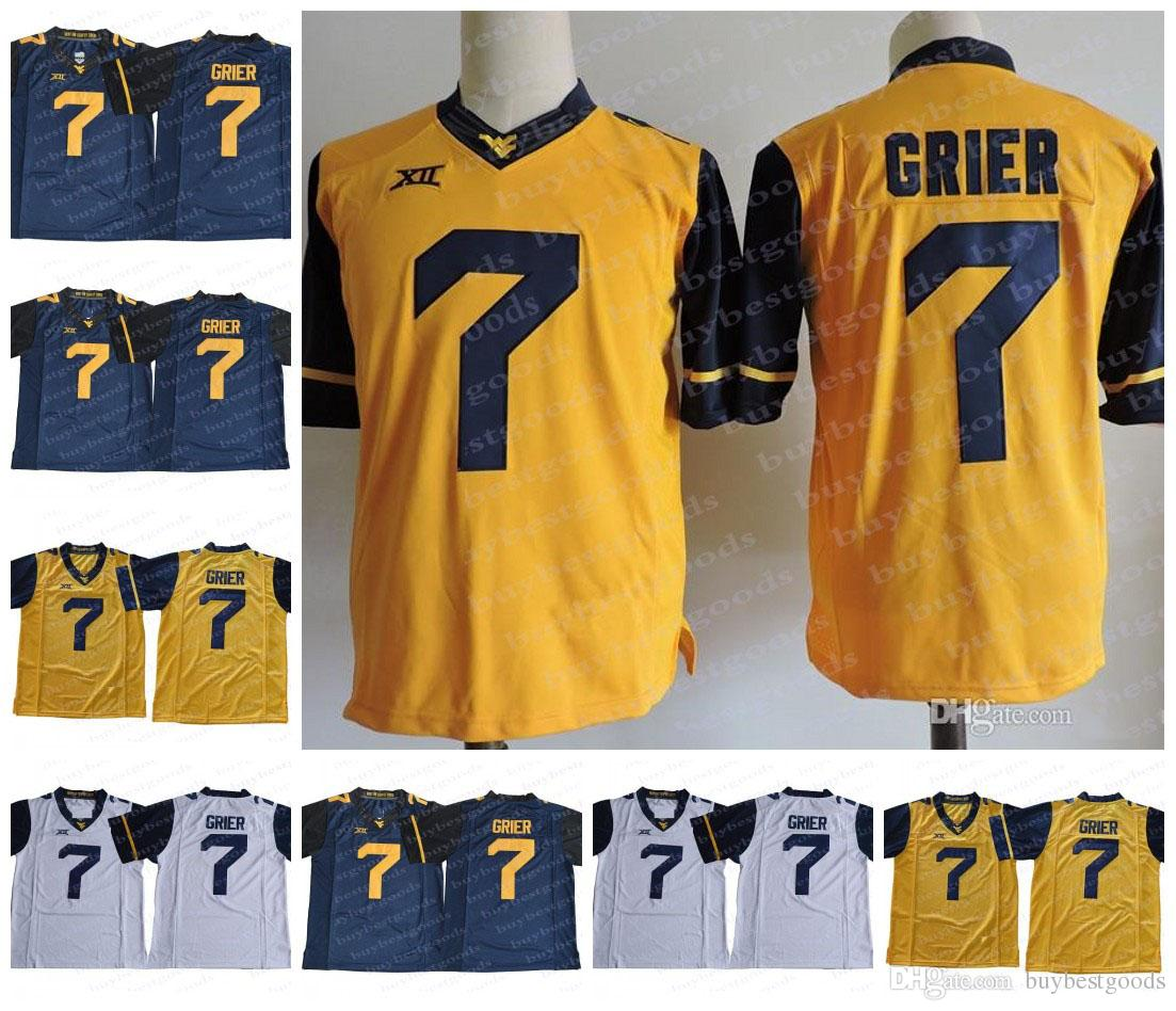 finest selection 54531 8d4a1 WVU West Virginia Mountaineers #7 Will Grier Jersey XII NCAA College  Football Jerseys Sttiched Gold Yellow White Navy Blue S-3XL