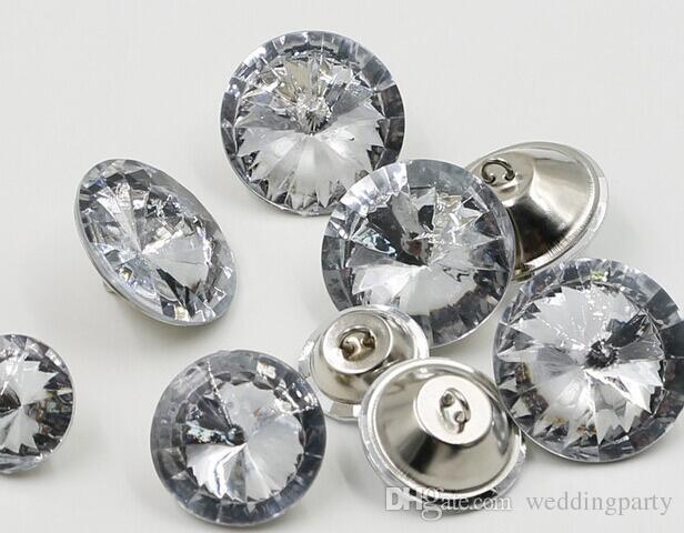 / 14mm / 16mm / 18mm / 20mm / 25mm / 30mm boutons de verre en cristal de satellite / boutons de décoration de canapé / boutons de couture