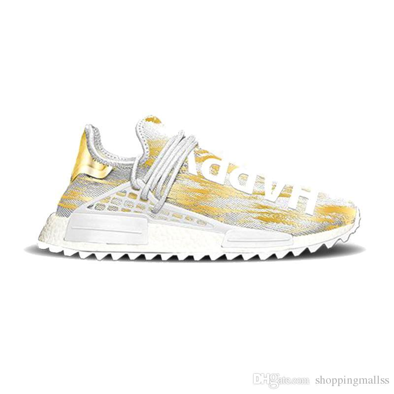 the latest f55e8 1052e NMD Human Race Hu Trail Pharrell Williams Happy 2018 New Mens Designer  Sports Running Shoes for Men Sneakers Women Casual Trainers