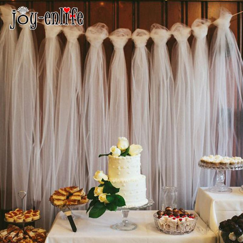 Tulle Roll 100 Yard Wedding Decoration Outdoor Photography Wall Props Babyshower Gift Wrap Birthday Party Favors 1st