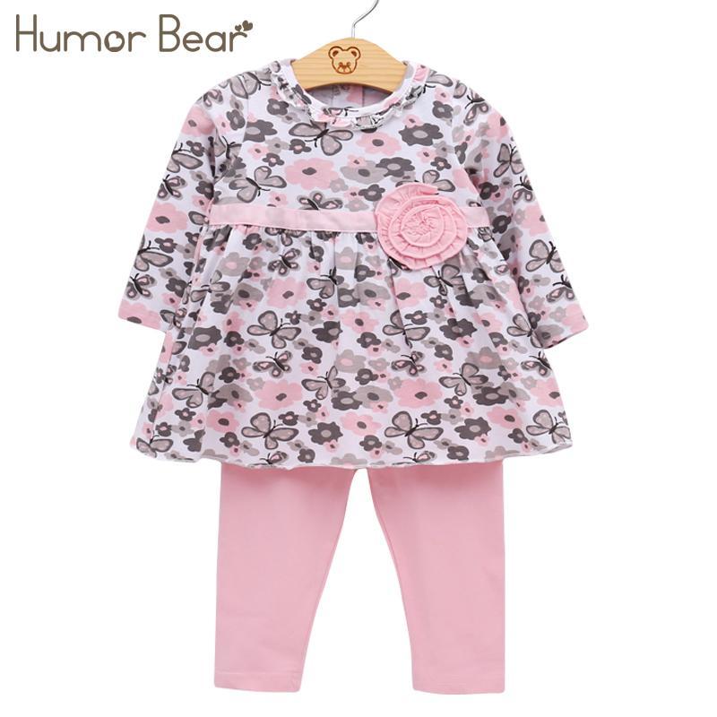 Acheter Humour Ours Bébé Fille Vêtements Ensemble Nouveau Né Toddler