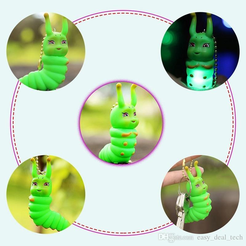 Pendentif de keychain d'animal familier de dessin animé de mode de LED pendentif de chaîne principale de voiture joue Q0543