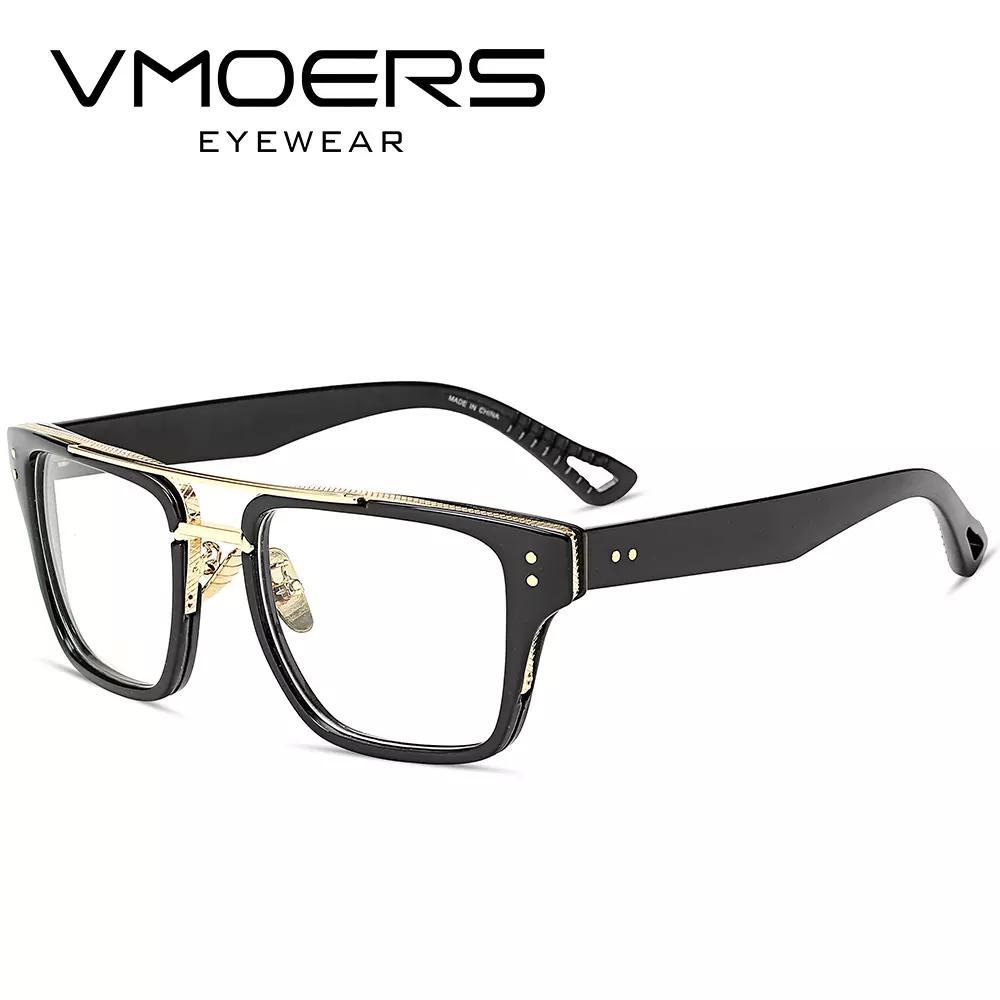 Compre VMOERS Aviador Quadrado Armações De Óculos De Estilo De Luxo Miopia Óptico  Óculos De Armação De Óculos Para Homens Lente Clara Armações De Óculos ... a5e0f1ec9e