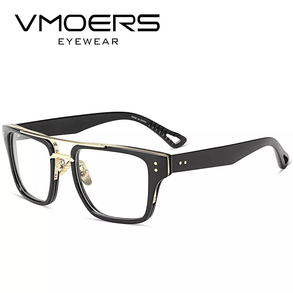b0419d12f0 2019 VMOERS Aviator Square Eyewear Frames Luxury Style Myopia Optical Eye Glasses  Frame For Men Clear Lens Fake Eyeglass Frames Male From Touareg