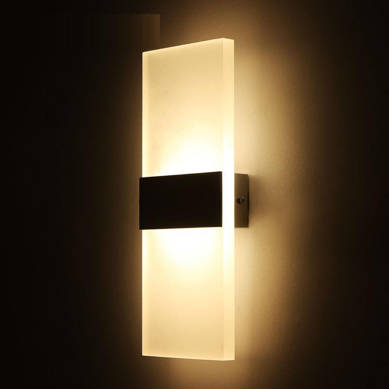 LED Modern Minimalist Mini Sconce Interior Wall Lamp Surface Mounted ...