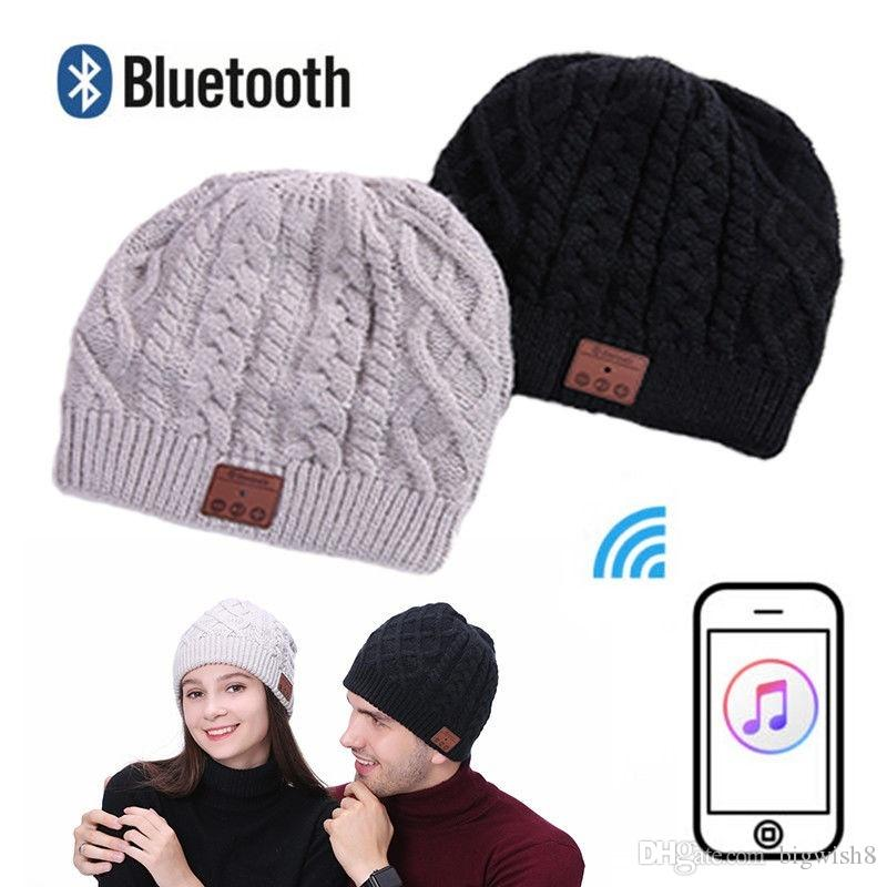 56a06bc2f9a Warm Soft Beanie Wireless Bluetooth Hat Cap Headset Headphone Speaker Mic  Stero Voice E151 Earbuds For Running Headphone Adapter From Bigwish8