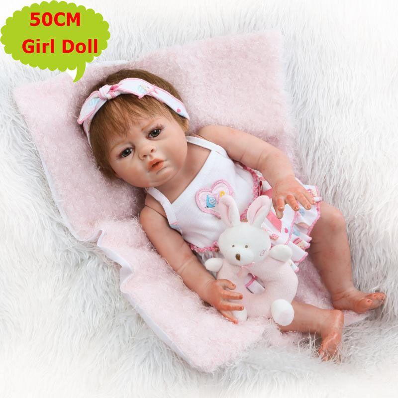 6ce1393f4d6 NPK 20Inch Full Silicone Body Baby Handmade Alive Newborn Girls Doll Bebe  Menina Children S Toys Best Birthday Gift Barbie Dolls Porcelain Dolls From  ...