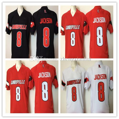2019 Mans NCAA College 8 Lamar Johnson Jersey Men Football Louisville  Cardinals Jerseys ACC University Stitched Red Black White High Sale Size S  From ... 9ef2ab0c7