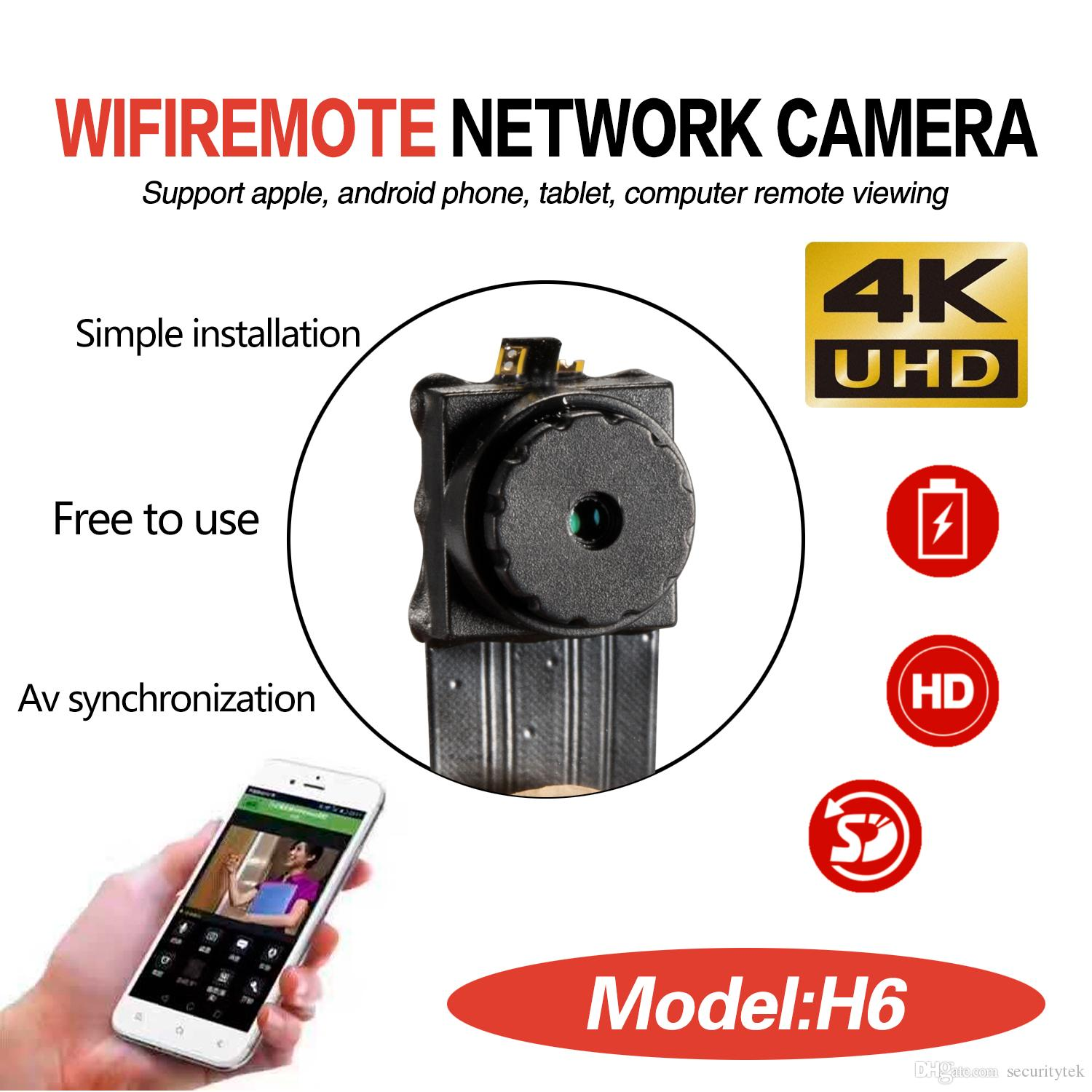 Free Shipping 1080P 4K UHD Wireless WIFI Ir Night Vision Camera module For  Home Security Surveillance Device Supports IOS Android phone