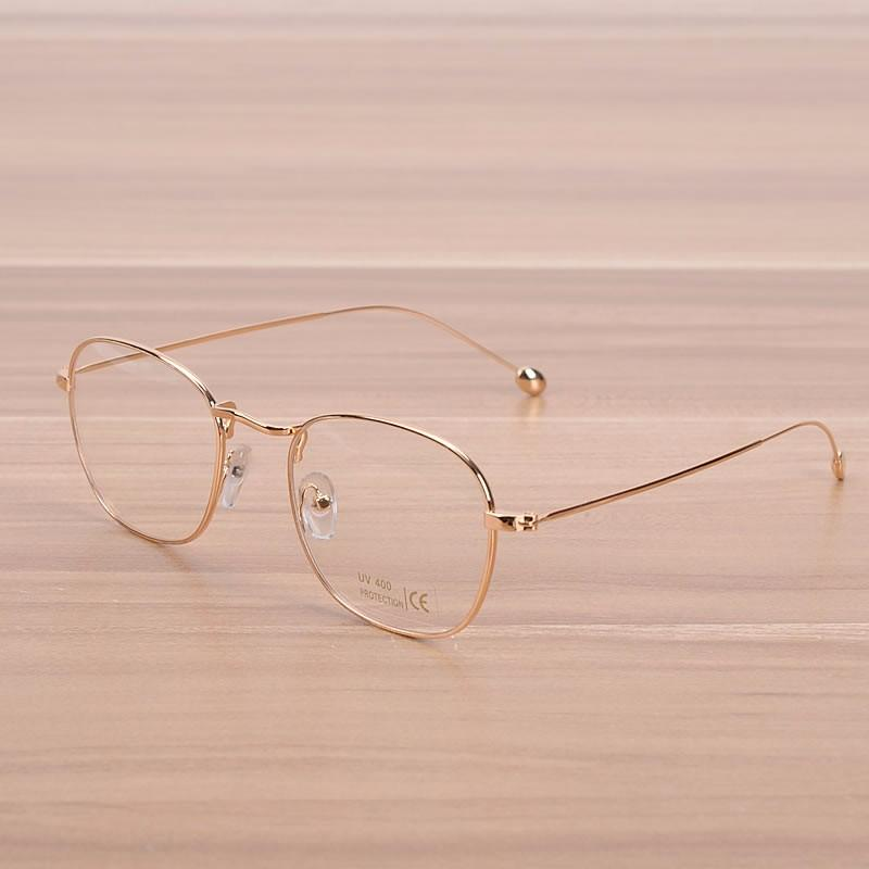 9056492867 2019 NOSSA Vintage Gold Metal Glasses Women   Men s Copper Eyeglasses Male  Female Eyewear Frame Classic Myopia Spectacle Frames From Value111