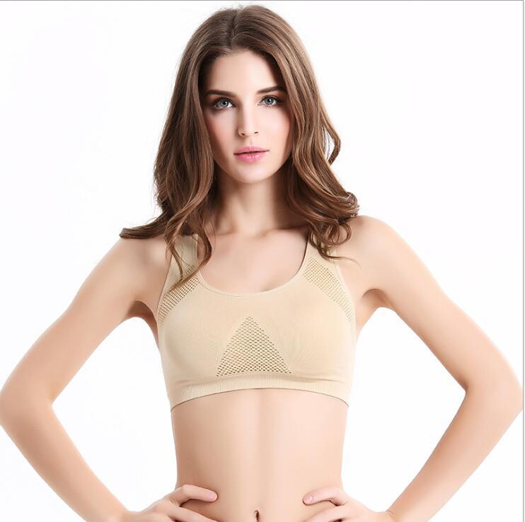 ea00785d388cc Professional Running Sports Bra Absorb Sweat Top Athletic Gym ...