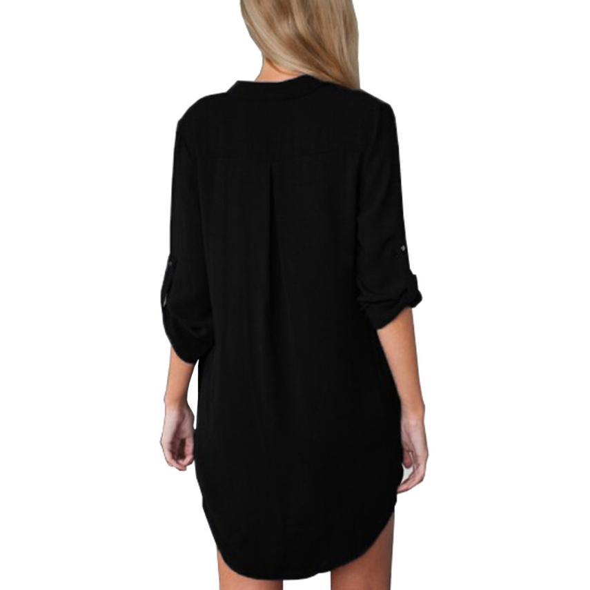 Top e camicette da donna camicia bianca a manica lunga 2016 donna 2016 camicia da donna taglie forti camicette e camicette autunno inverno taglia 5xl