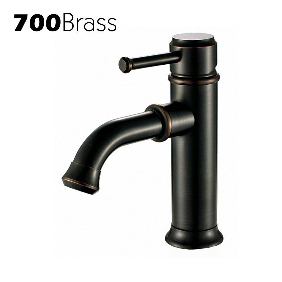 2018 Modern Black Basin Faucet Solid Brass Single Hole Single Holder ...