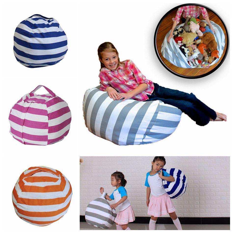 Stripe Bean Bag 18 Inch Beanbag Chair Kids Bedroom Stuffed Animal