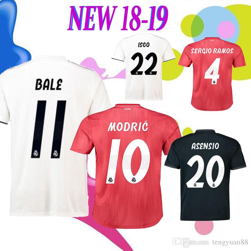 15b7680acf8 Real Madrid 2019 ASENSIO BALE ISCO Home Away Men And Women Soccer ...