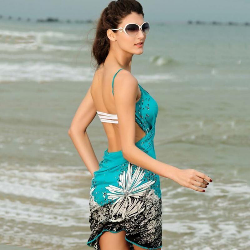 Paintball Accessories Bicycle Parts Hot Style Women Beach Dress Sexy Sling Beach Wear Dress Bikinis Cover-ups Wrap Pareo Skirts Towel Open-back Swimwear