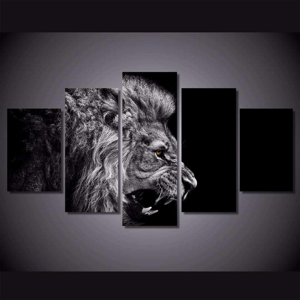 2019 lion white blackhome decor hd printed modern art painting on canvas unframed framed from qq6241139 16 24 dhgate com