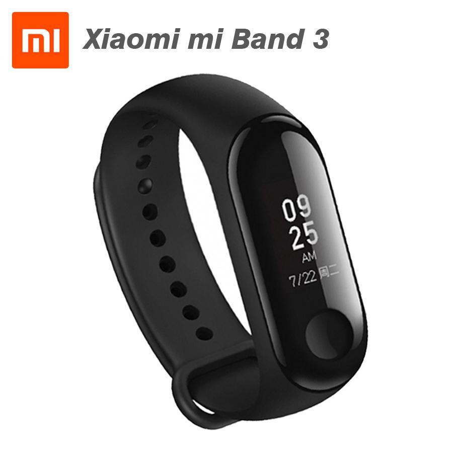b820c8d67 Pulsera Gear Fit Original Xiaomi Mi Band 3 Miband 3 Fitness Tracker Monitor  De Frecuencia Cardíaca 0.78 '' Pantalla Táctil OLED 4.2 Smart Wristband ...