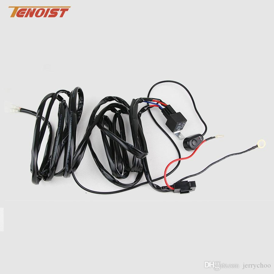 3 Meters Off Road Atv Jeep Led Light Bar 40 Amp Relay On Switch Wiring Work Lights 240w Wire Online With 160 Piece Jerrychoos Store