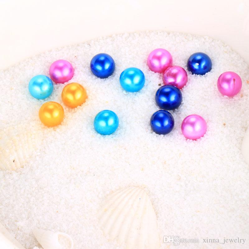 2018 New DIY Akoya Oyster Pearl 6-8mm new 25 Mix color Freshwater Gift Natural Pearl Loose beads Decorations Vacuum Packaging Wholesale