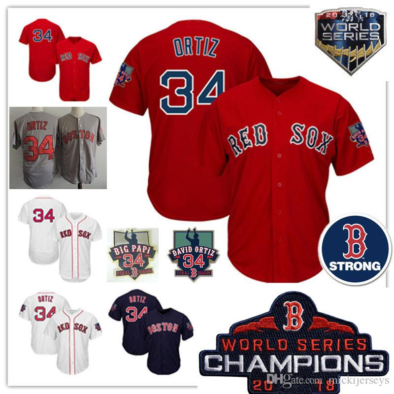 Details about Mens white  34 David Ortiz Strong Retirement Day Patch jersey  stitched David 558a3424490