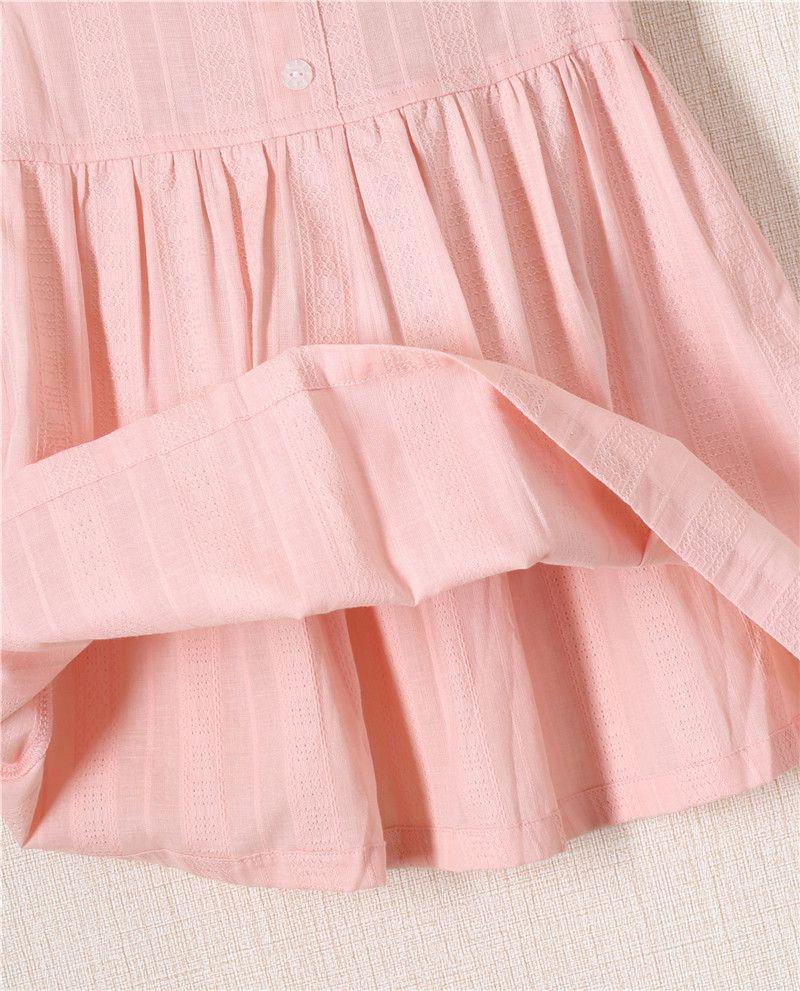 높은 품질 작은 아이 드레스 코 튼 의류 덤 슬리브 공주 드레스 패션 새로운 하이 엔드 브랜드 아동 드레스