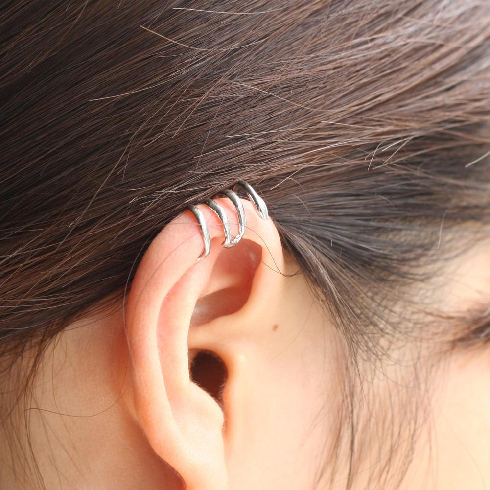 Refaxi 2016 New Fashion Silver Tone Alloy Snake Clip Ear Cuff Wrap Cartilage Earrings Vintage Gothic Punk Style Women Jewelry