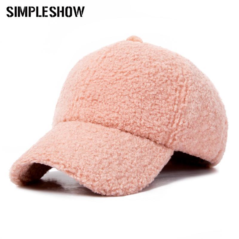 a5f959cac Fashion Winter Pompom Pink Suede Baseball Cap Women Autumn Casual  Streetwear Black Hat Cap 2018 Elegant Female Hat Caps
