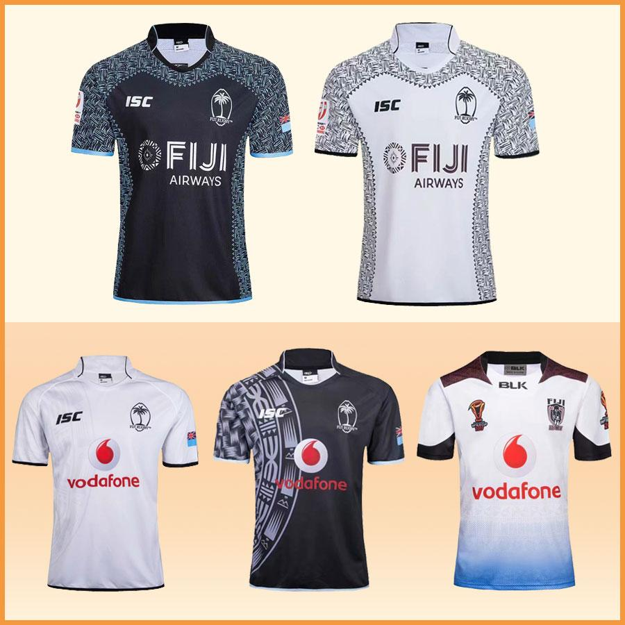 b114a7d91c4 2019 New 2018 FIJI National Rugby Jerseys 2019 Rugby World Cup League Shirts  2017 World Champions Rugby League Fiji Home Away Tops High Quality From ...