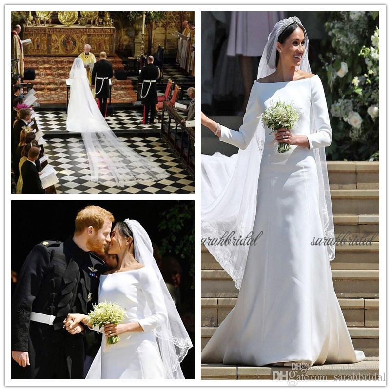 British Royal Wedding Gowns: Discount 2018 New Hot Harry&Meghan Markle British Royal