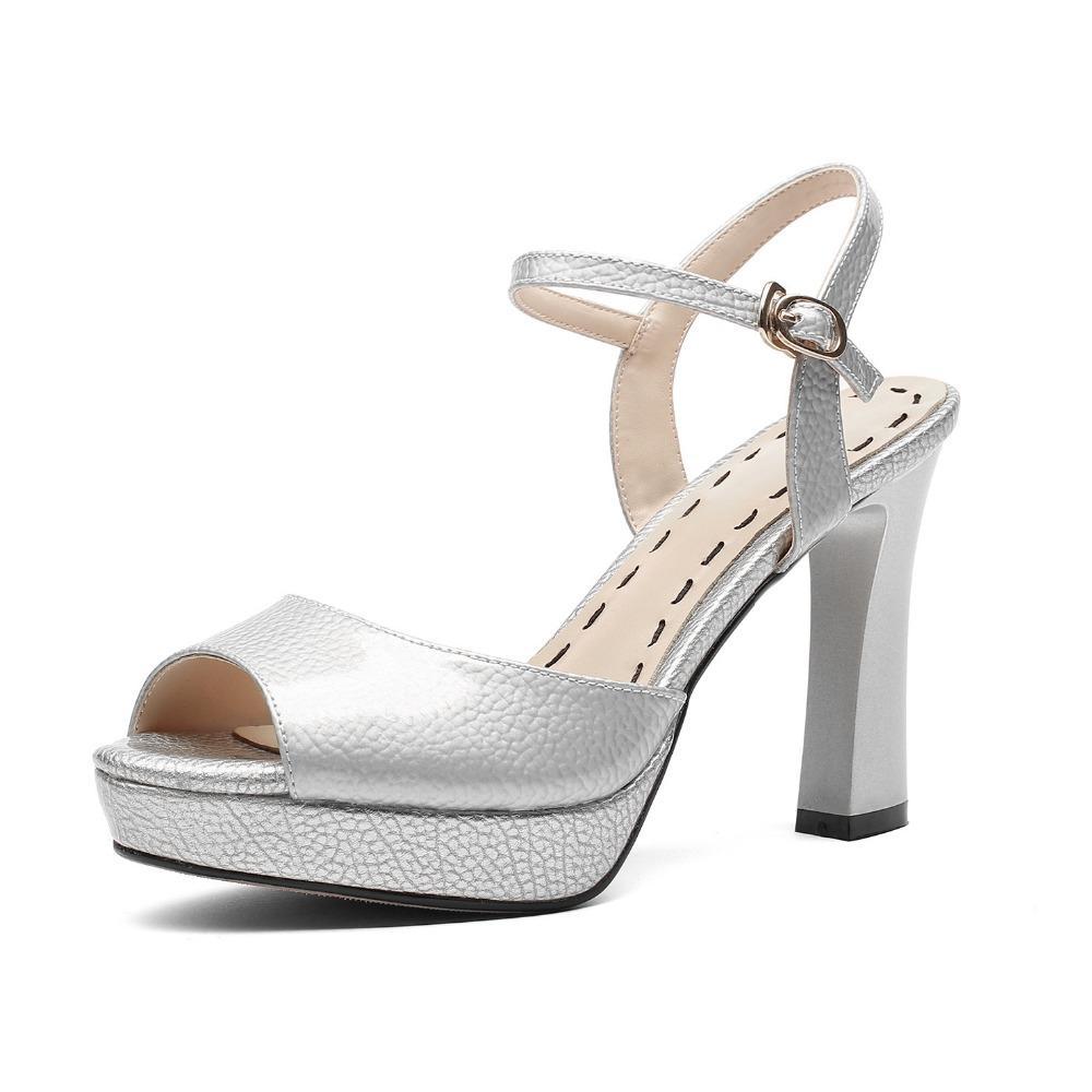 Altos Rojos Hebilla Boda Mate Plataforma Sandalias Zapatos Las Tacones Nuevas Sandalen Brillante De Cuero Blancas Toe Peep qGpMSVzU