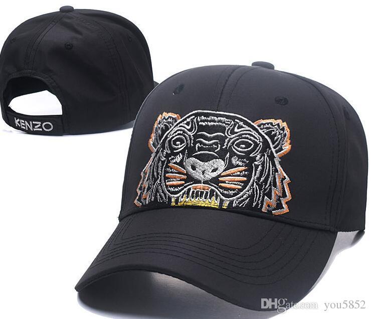Compre 2018 Diseñador Para Hombre Gorras De Béisbol Nueva Marca Tiger Head  Sombreros De Oro Bordado Hueso Hombres Mujeres Casquette Sombrero Para El  Sol ... 64a8366082e