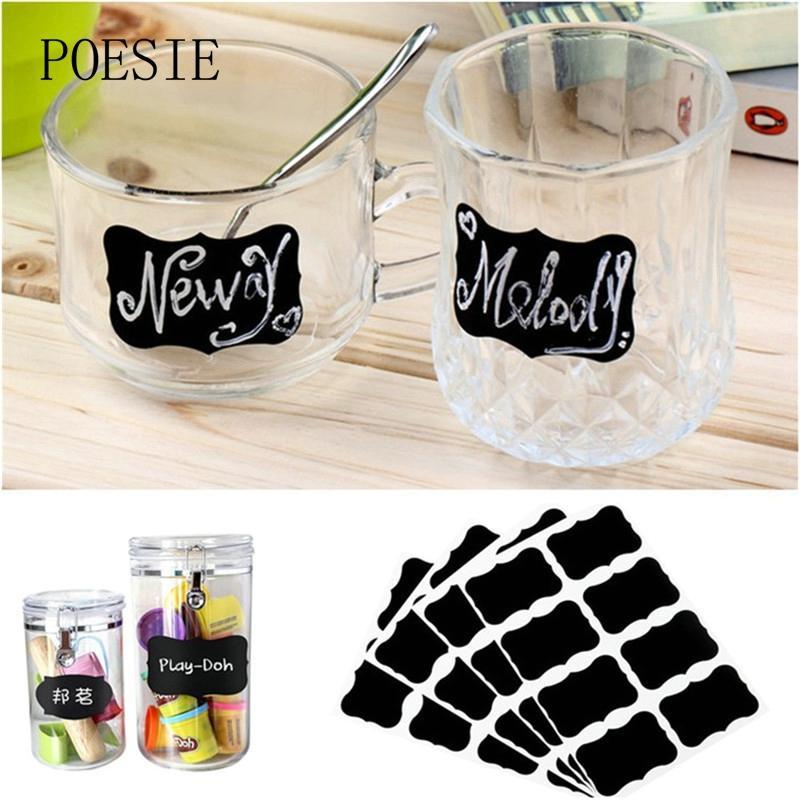 /Blackboard Sticker Craft Kitchen Jar Organizer Labels Chalkboard Chalk Board Stickers Black