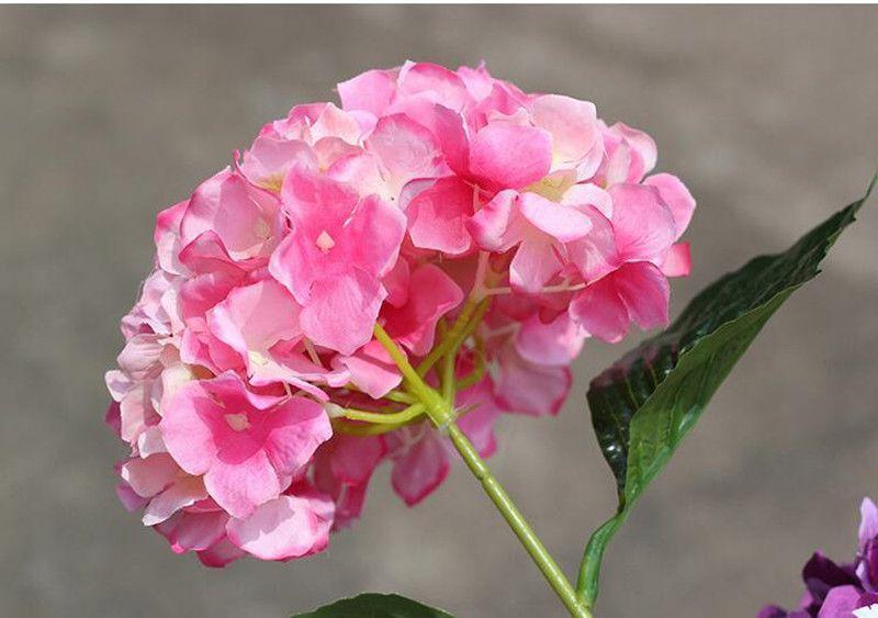 Avrupa Pastoral Tarzı Beyaz Yapay Ipek Çiçek Kumaş Ortanca Buket Düğün Parti Süslemeleri Için 5 Renk Yeni Varış