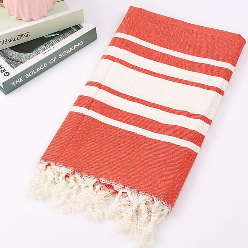 100x180cm Turkish Hammam Towel Beach Travel Bath Cotton Large