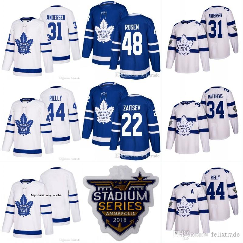 hot sale online e72d5 b8e85 Toronto Maple Leafs 2018 Stadium Series Jerseys 31 Frederik Andersen 22  Nikita Zaitsev 48 Calle Rosen 44 Morgan Rielly Stiched Mens Jerseys
