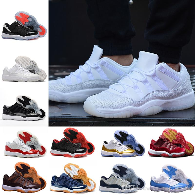more photos dbd70 75eba 11 Gym Red Midnight Navy Chicago WIN LIKE 82 96 Space Jam men women low  Barons concord Basketball Shoes 11s sports Sneakers 36-47