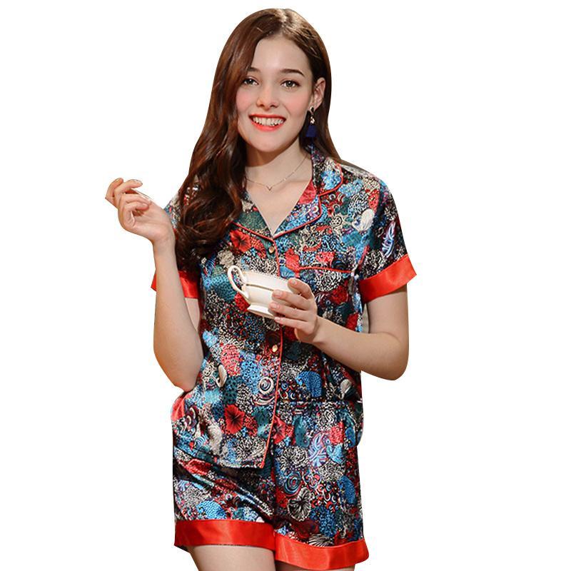6674802c3a4f Женские сна Весна пижамы устанавливает случайные новый печати спортивный  костюм ...