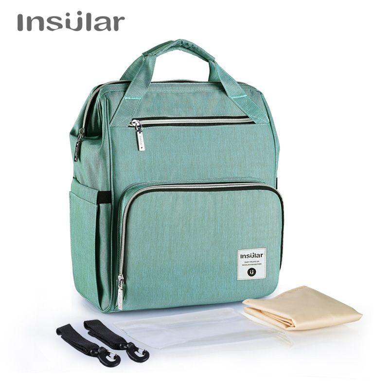 14c74ea09a INSULAR Fashion Mummy Maternity Nappy Bag Insulated Nursing Bag Baby ...