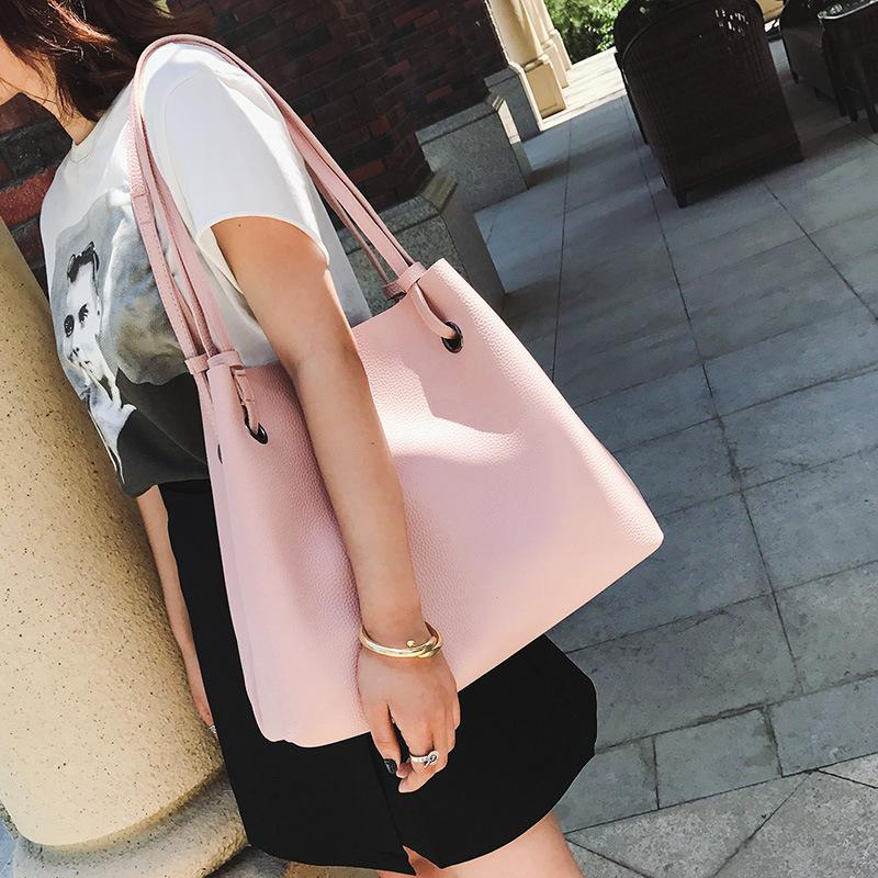 99c6f32e3e28 2018 Hot Women S Soft Leather Handbag High Quality Women Shoulder Bag  Luxury Brand Tassel Bucket Bag Fashion Women S Handbags Hobo Purses Leather  Bags For ...