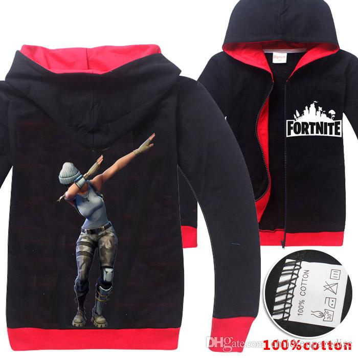 b93c9f913cdc9 Fortnite Children s Jackets Outwear Casual Hooded Coat Sweatshirts ...