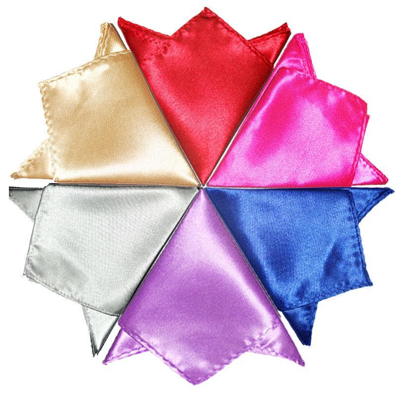 패션 Hankerchief 25 색 주머니 정사각형 냅킨 스카프 쥬얼리 남성 턱시도 칵테일 파티 웨딩 파티 크리스마스 무료 페덱스 TNT