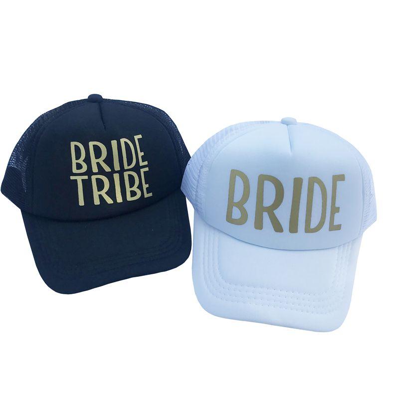 d58a361a BRIDE TRIBE Wedding Baseball Cap Gold Letter Mesh Hat Women Party Brand  Club Team SQUAD Snapback Caps Bone Beach Casquette Custom Trucker Hats  Compton Cap ...