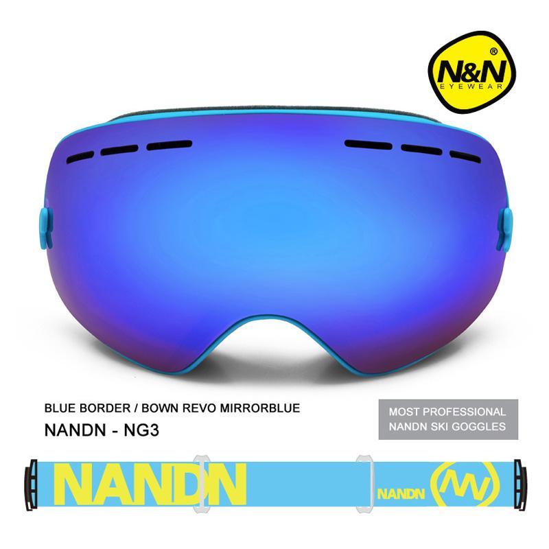 b824b26e97e 2019 NANDN Exchengeable Lens Big Spherical Men Women Snowboard Sports Ski  Goggles Double Lens Anti Fog Professional Ski Glasses NG3 From Alexandr