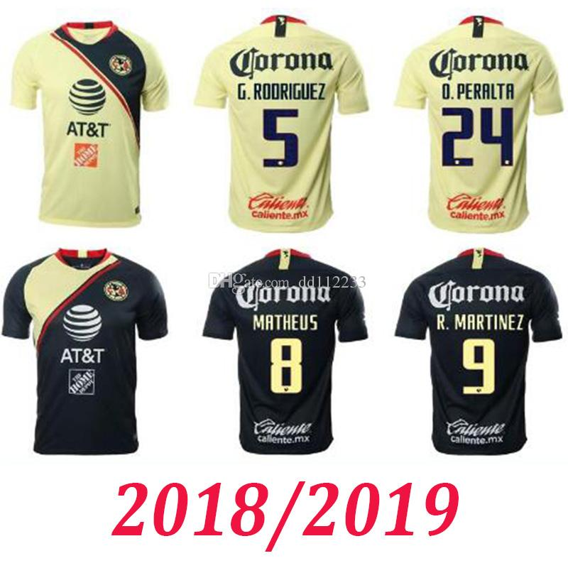 77dc345a6 2019 Newest 2018 2019 Club America Adult Soccer Jersey 18 19 CA Uniforms  PERALTA P.AGUILAR DOMINGUEZ S.ROMERO SAMBUEZA Jerseys Football Shirt From  Dd112233